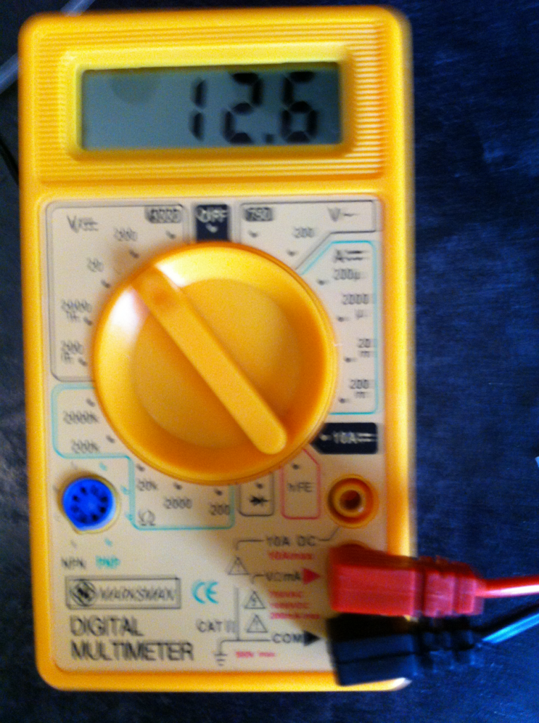 Portable Solar Power Generator - Multimeter