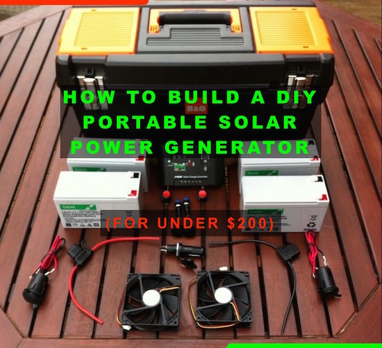 diy portable solar power generator