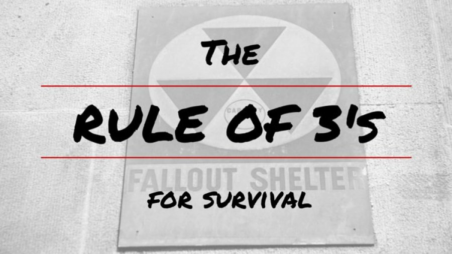 The Rule of 3's For Survival