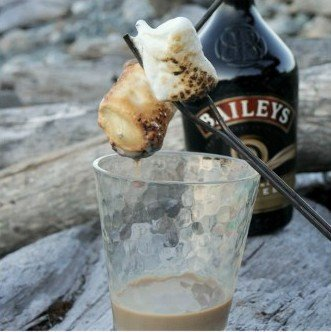 Bailey's Dipped Toasted Marshmallows