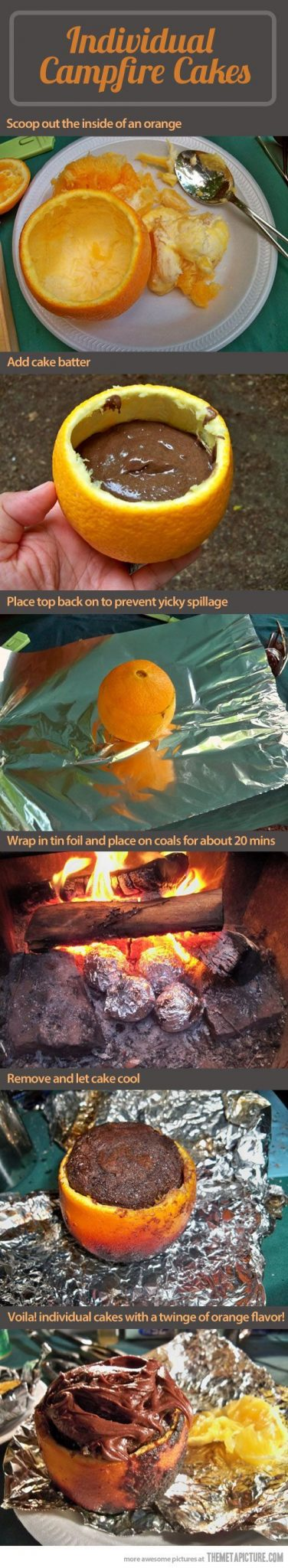 Campfire Cakes With Oranges