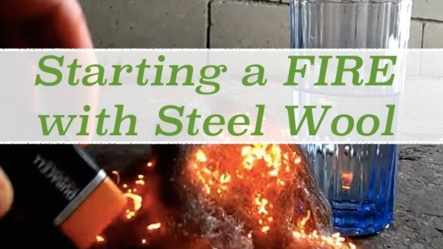 Starting a Fire with Steel Wool & 9V Battery! (in 3 steps)